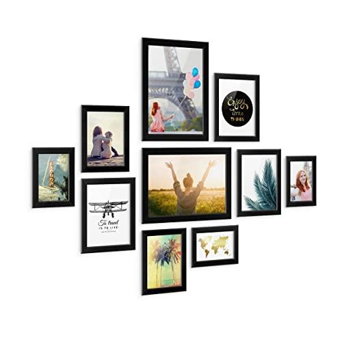 schwarz collagen bilderrahmen und weitere bilder. Black Bedroom Furniture Sets. Home Design Ideas
