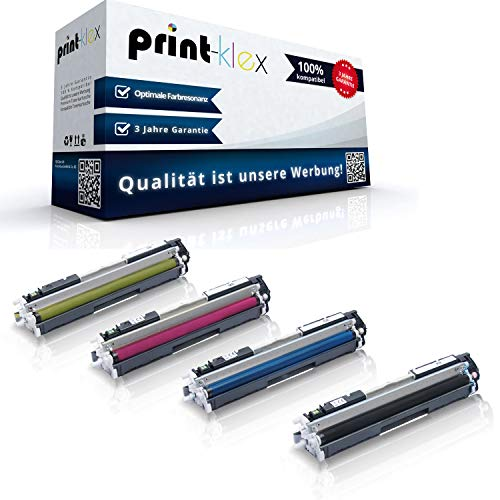 Print-Klex 4x Kompatible Tonerkartuschen für HP Color LaserJet Pro MFP M176n Color Laserjet Pro M177fw CF350 CF351 CF352 CF353 - Sparpack - Color Office Serie von Print-Klex GmbH & Co.KG