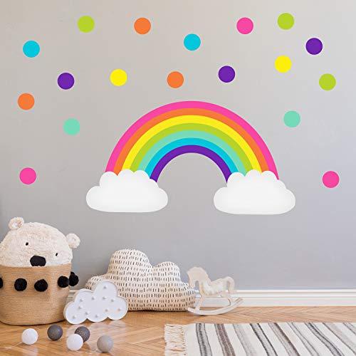 Dekoration Regenbogen Set Din A4 Bunt Wandtattoo Wandsticker Aufkleber Kinderzimmer Baby Mobel Wohnen Elin Pens Ac Id