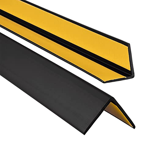 0,90m Silber PVC Treppenkantenprofil Selbstklebend Winkelprofil Anti-Rutsch Treppenkante 50x40mm