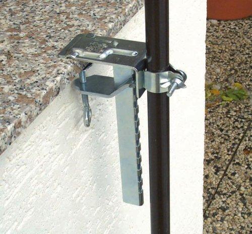 451040 Profiline 20 kg Schirmst/änder f/ür Unterrohre mit Einem Durchmesser zwischen 21-54 mm Beton gef/üllt