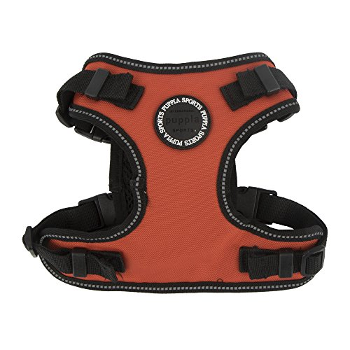 Puppia PLRA-HF9323 Geschirr Trek Safety Harness F, L, orange von Puppia