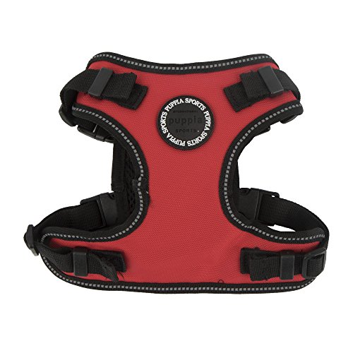 Puppia PLRA-HF9323 Geschirr Trek Safety Harness F, XL, rot von Puppia