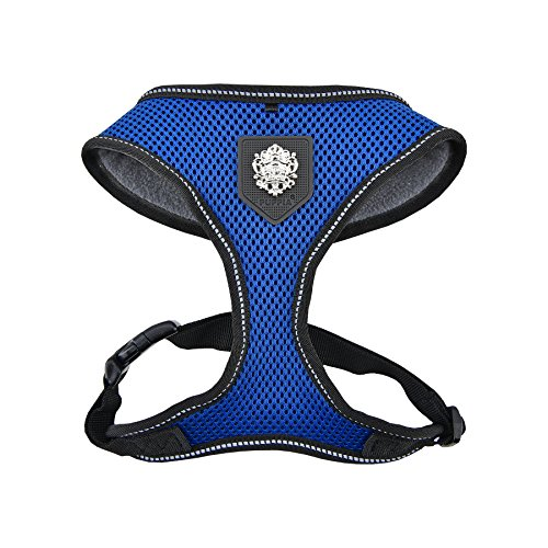 Puppia PLRD-HA9345 Geschirr Thermal Soft Harness, L, royal blau von Puppia