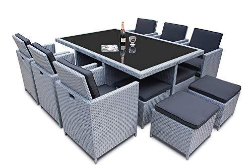 Ragnarök Möbeldesign PolyRattan   DEUTSCHE Marke   EIGNENE Produktion   8  Jahre GARANTIE Auf UV Beständigkeit Gartenmöbel Essgruppe Tisch + 6 Stühle  U0026 4 ...
