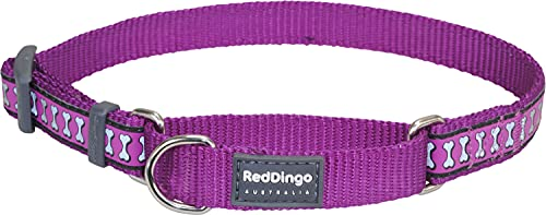 Red Dingo Martingale Reflective Bones 15mm Choke Collar, Purple, Small/Medium von Red Dingo