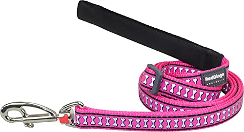Red Dingo Reflective Dog Lead, Small, Hotpink von Red Dingo