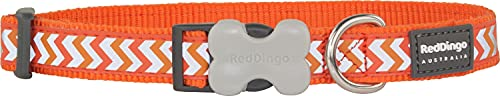 Red Dingo Reflective Ziggy Dog Collar, Small-Medium, Orange von Red Dingo