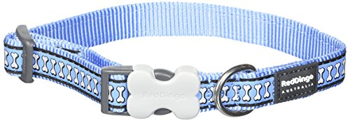 Red Dingo Reflektierendes Hundehalsband, Mid Blue, Medium/Large/20 mm von Red Dingo