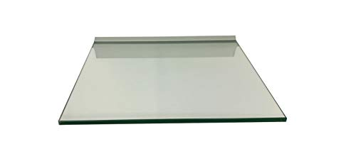Regale4You Glasregal Quadrat 30x30 cm klar Glas mit Alu Profil Wandregal Board von Regale4You