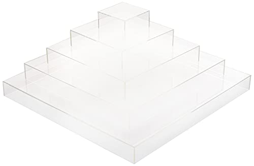 "Restaurantware RWP0397C Tek Clear Acrylic Buffet Display Stand 5Tier Pyramid 19 x 9 3/4"" 1 count box, farblos von Restaurantware"