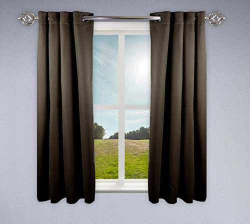 "Rod Desyne Window Thermal Isulated Blackout Curtain with Metal Grommet, 52"" x 63"", Taupe - 1 Panel von Rod Desyne"