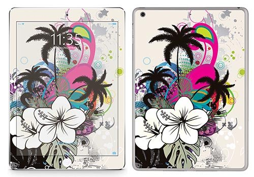 Royal Wandtattoo RS. 68596 selbstklebend für iPad Air, Motiv Colorful Flowers with Trees von Royal Sticker