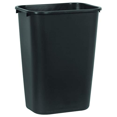Rubbermaid Commercial Products FG295700BLA Kunststoff Abfalltonne, weichgeformt, rechteckig, 38,8 L, Schwarz von Rubbermaid Commercial Products