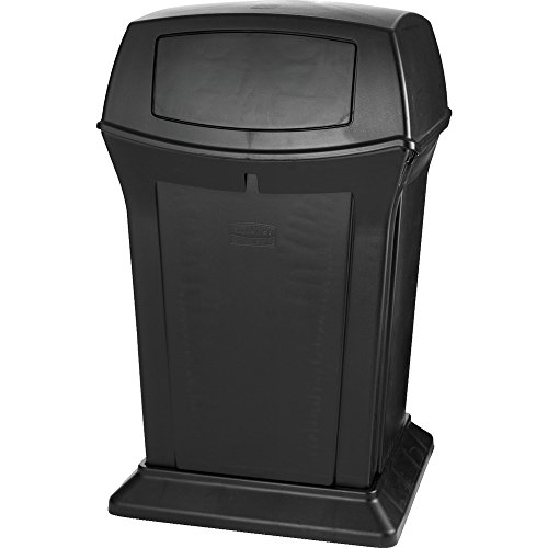 Rubbermaid Commercial 45gal Square Ranger Trash Can with 2 Doors - Black von Rubbermaid Commercial Products