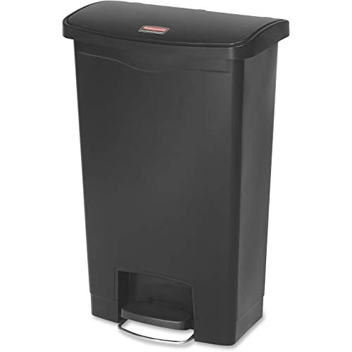 Rubbermaid Slim Jim 1883611 50 Litre Front Step Step-On Resin Wastebasket - Black von Rubbermaid Commercial Products