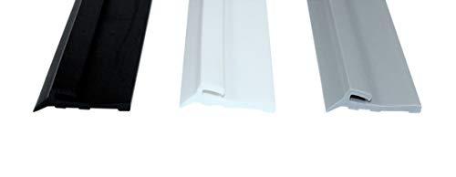 SN-TEC Zimmert/ürdichtung//T/ürdichtung//T/ürgummi SNTD 3002 f/ür 4mm Nut mit Anschlag Nase 50 Meter Farbauswahl: Schwarz//Wei/ß//Braun//Dunkelbraun//Beige//Transparent//Grau Grau