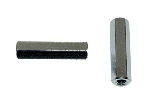 10 St/ück SN-TEC Schraubhaken//Wandhaken verzinkt gerade 80mm mit Vielzahn
