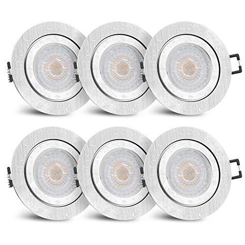 LED-Modul 5W neutral weiß RF-2 Aluminium LED-Einbauleuchte flach rund incl