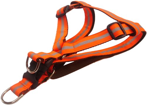 Sassy Dog Wear Hundegeschirr, reflektierend, Orange, Größe L, 58,9 - 88,9 cm von Sassy Dog Wear