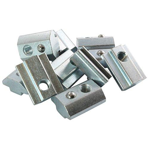 Typ I Stahl verzinkt 100x Nutenstein 6 St M4 Nut 6 M4 ohne Steg Federkugel