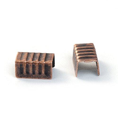 Bronzefarben 14 mm 50x Binderinge Gemustert D Geschlossen SiAura Material /®