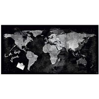 SIGEL Glas-Magnettafel artverum® 91,0 x 46,0 cm World-Map von Sigel