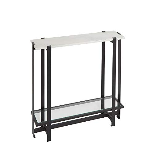 Silverwood Console Table, Faux Marble and Black von Silverwood