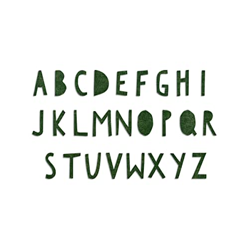 Sizzix Bigz XL Alphabet Stanzschablone-Gotik von Tim Holtz Mehrfarbig 37.6 x 15.3 x 2 cm Stahl//Holz//Plastik