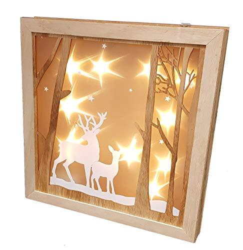 Weihnachtsdeko Beleuchtet.Figuren Deko Led Petroleumlampe Mit Glitter Jahreszeitliche