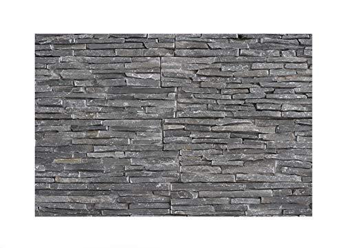 W 008 Wand Verblender Schiefer Grau 1 Muster Naturstein Stein Mosaik  Fliesen Lager Verkauf Herne NRW