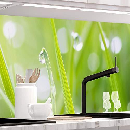 PREMIUM 60 x 400cm alle Untergr/ünde m/öglich OLIVEN Spritzschutz K/üchenr/ückwand 1,5mm selbstklebend Hartkunststoff