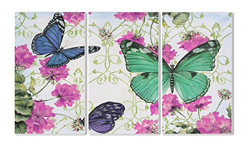 Stupell Home Triptychon Panel Wand-Kunst Schmetterlingsinspiration Butterfly Inspirations von Stupell Home Decor Collection