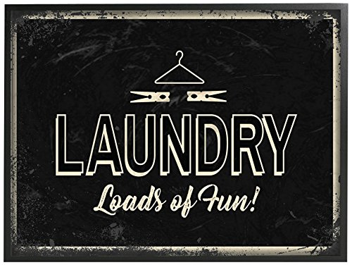 Stupell Industries Laundry Loads of Fun Industrial Oversized Gerahmte Giclée-Kunst, hergestellt in den USA von The Stupell Home Decor Collection