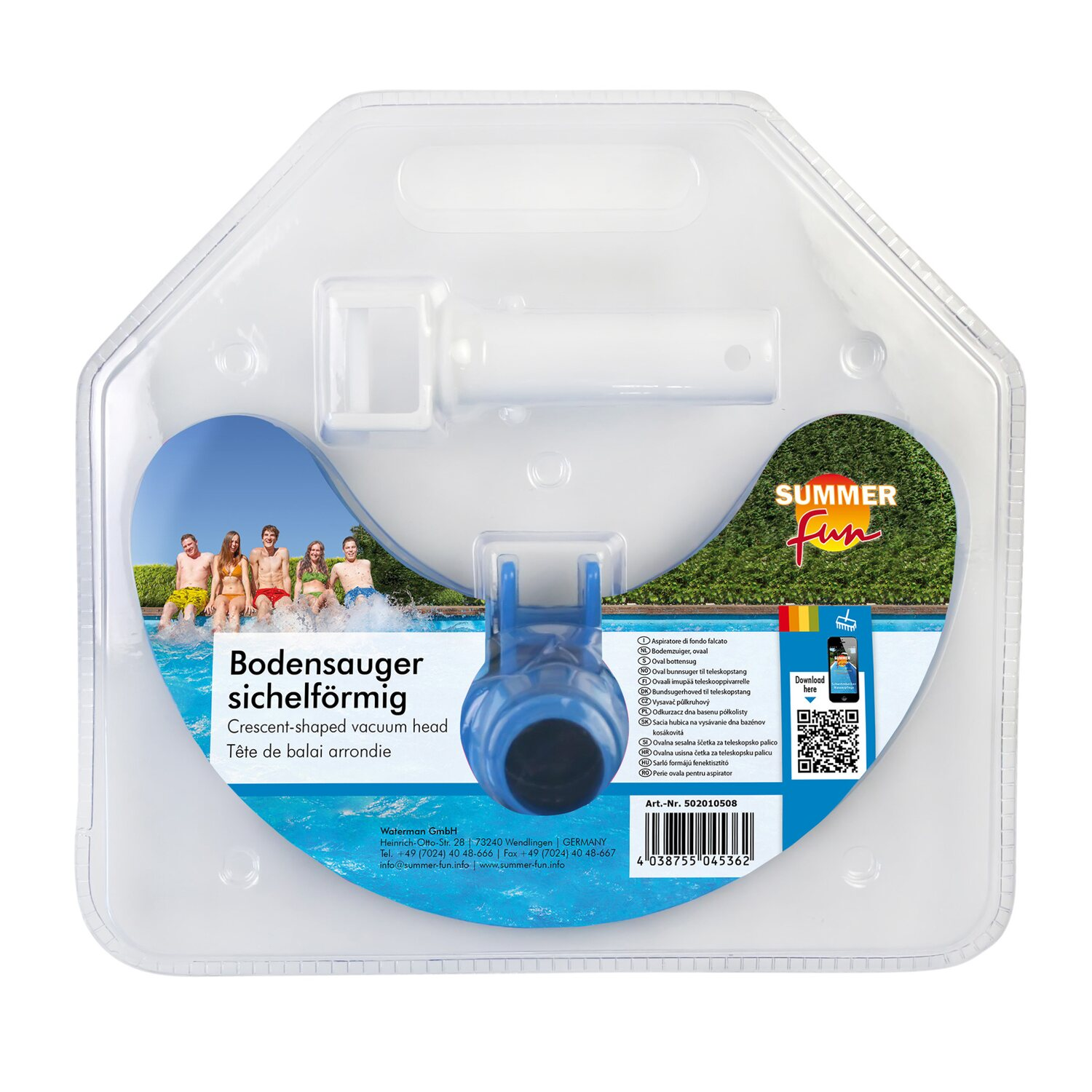 Summer Fun Ovaler Bodensauger von Summer Fun