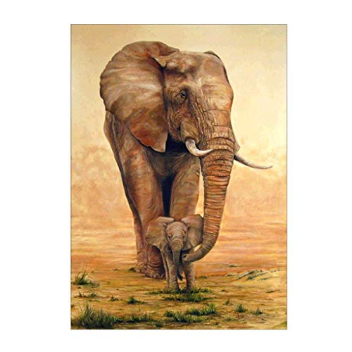 Sunnay Diamond Painting,Löwenzahn Igel 5D Diamant Stickerei Full Drill Phantom Schmetterlinge DIY Dekoration Malerei Kreuzstich Kit (Elefant B, 40 * 30cm) von Sunnay
