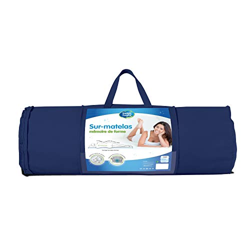 Sweet Night Form 3 cm Matratzenauflage Memory Foam Top, Polyester, Weiß, 180 x 200 x 3 cm von Sweet Night