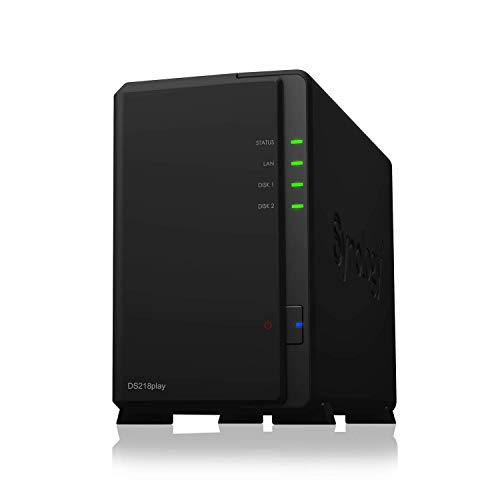 Synology DS218play 12TB DiskStation Server 2Bay Desktop NAS-Einheit & 2X 6TB HDD von Synology