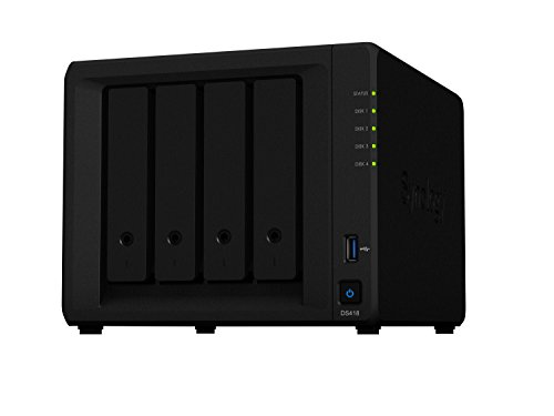 Synology DS418 16TB (4 x 4TB WD RED) 4 Bay Desktop-NAS-Einheit von Synology