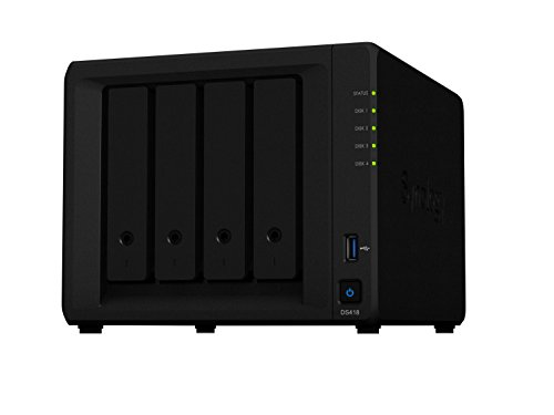 Synology DS418 8TB (4 x 2TB WD RED) 4 Bay Desktop-NAS-Einheit von Synology