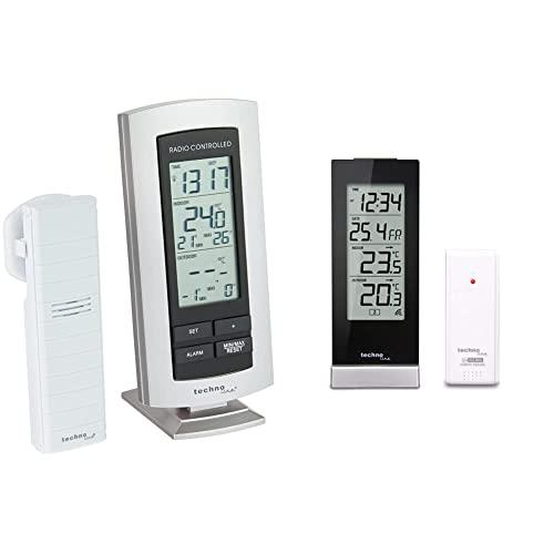 2-teilig bestehend aus Silber-schwarz Technoline Temperaturstation WS 9117-IT