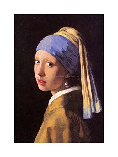 Johannes Vermeer Girl Pearl Earring Painting Framed Art Print Picture F12X456 von The Art Stop