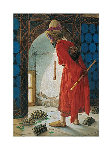 The Art Stop Painting Osman HAMDI BEY Tortoise Trainer Old Master Framed Print F12X4376 von The Art Stop