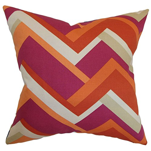 The Pillow Collection Hoonah Geometrischer Kissenbezug 18 x 18 violett von The Pillow Collection
