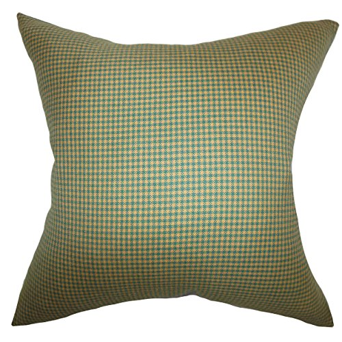 Das Kissen Collection jhode Plaid Kissenhülle, braun, grün von The Pillow Collection