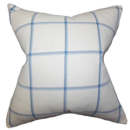 Das Kissen Collection wilmie Plaid Kissenhülle, blau von The Pillow Collection