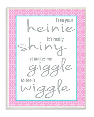 Stupell Home Decor I See Your Shiny Heinie Wiggle Giggle Bath Art Wandschild, 10 x 0,5 x 15 cm von The Stupell Home Decor Collection
