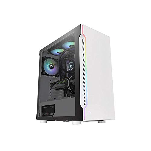 Thermaltake H200 TG Snow RGB ATX Mid Tower PC Gehäuse CA-1M3-00M6WN-00 von Thermaltake