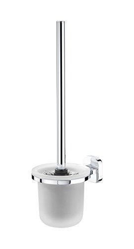 Tiger Vienna WC Büstengarnitur mit Glasbehälter Toilettenbürste chrom