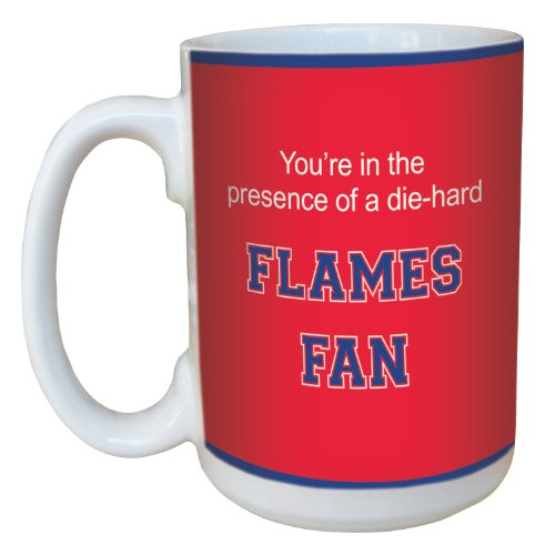 Tree-Free Greetings lm44758 Flames College Basketball Ceramic Mug with Full-Sized Handle, 15-Ounce von Tree-Free Greetings